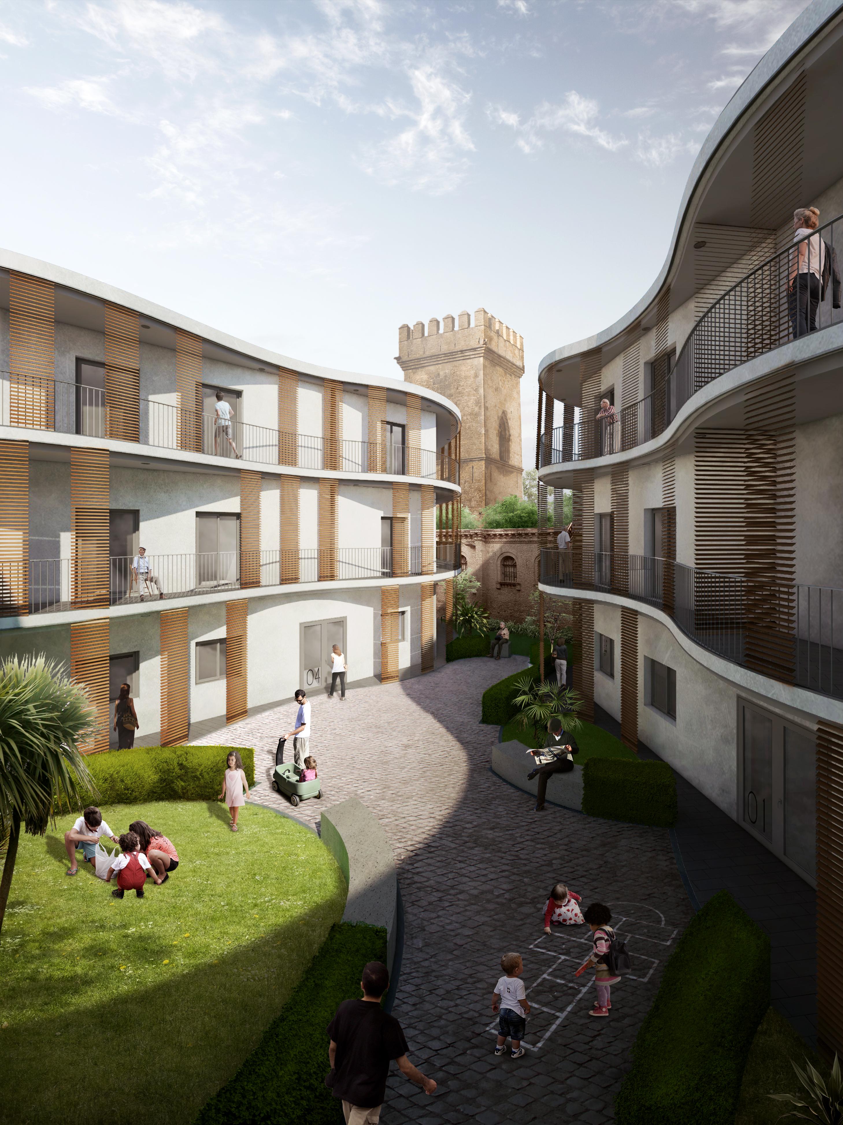 Concurso Proyecto residencial en Calle Santa Clara, Sevilla